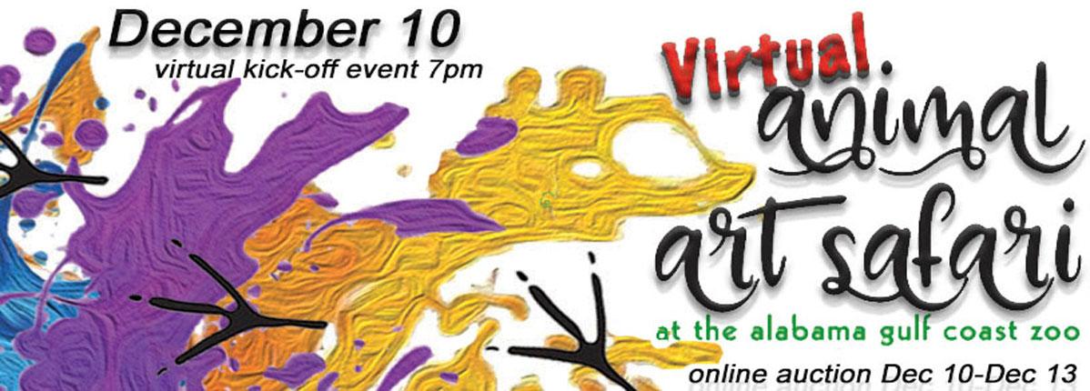 Virtual Animal Art Safari.  December 10
